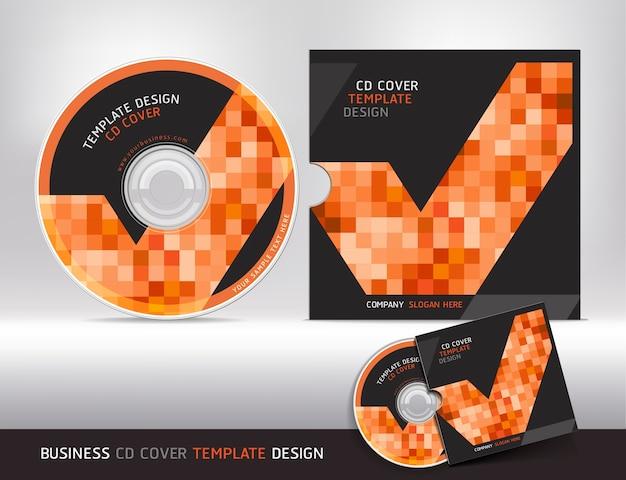 Modelo de design de capa de cd.