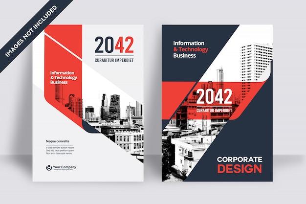 Modelo de design de capa de livro comercial