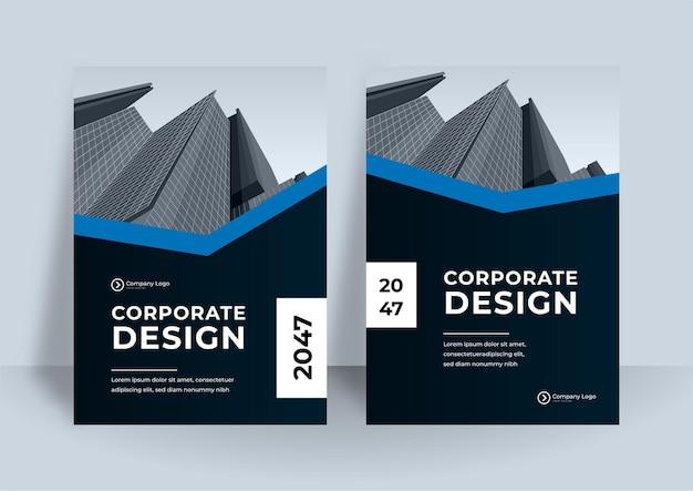 Modelo de design de capa de livro corporativo em a4.