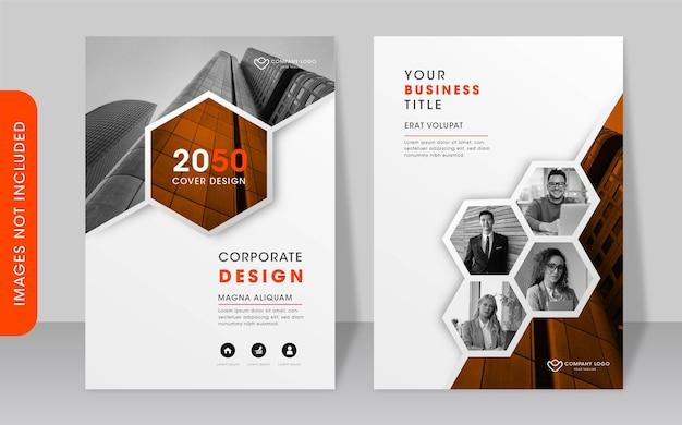 Modelo de design de capa de livro corporativo moderno