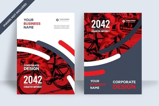 Modelo de design de capa de livro corporativo
