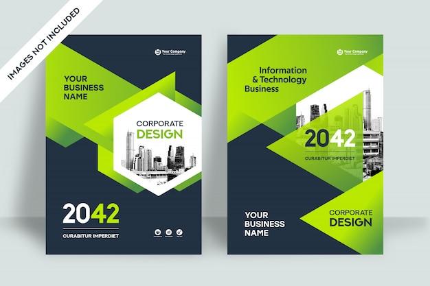 Modelo de design de capa de livro de negócios de fundo de cidade