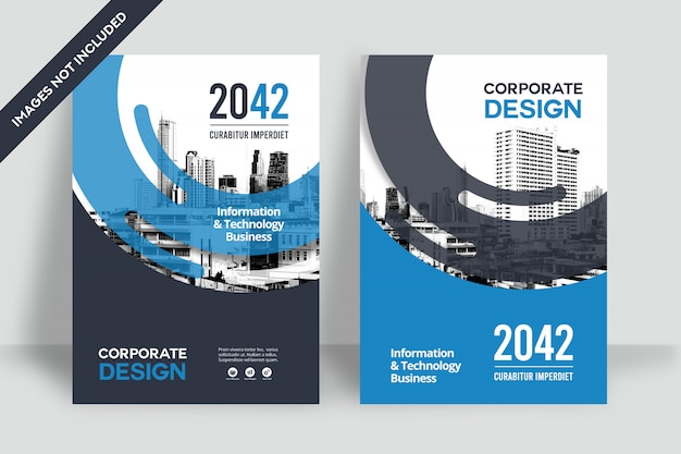 Modelo de design de capa de livro de negócios