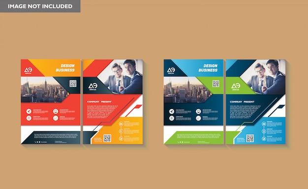 Modelo de design de capa de livro em tamanho a4