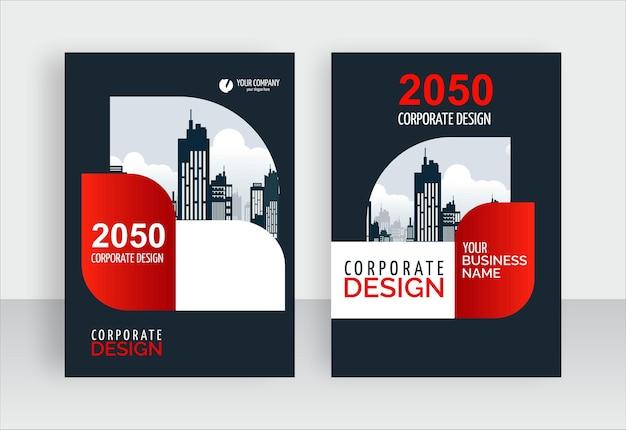 Modelo de design de capa de livro empresarial moderno e elegante
