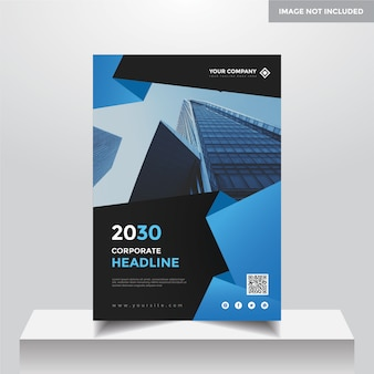 Modelo de design de capa de negócios corporativos a4