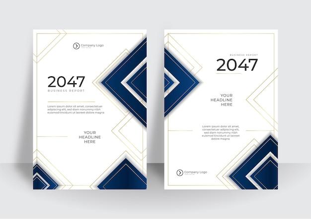Modelo de design de capa de negócios de luxo. relatório anual corporativo ou conceito moderno de apresentação