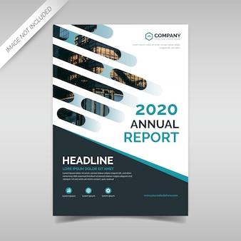 Modelo de design de capa de relatório anual