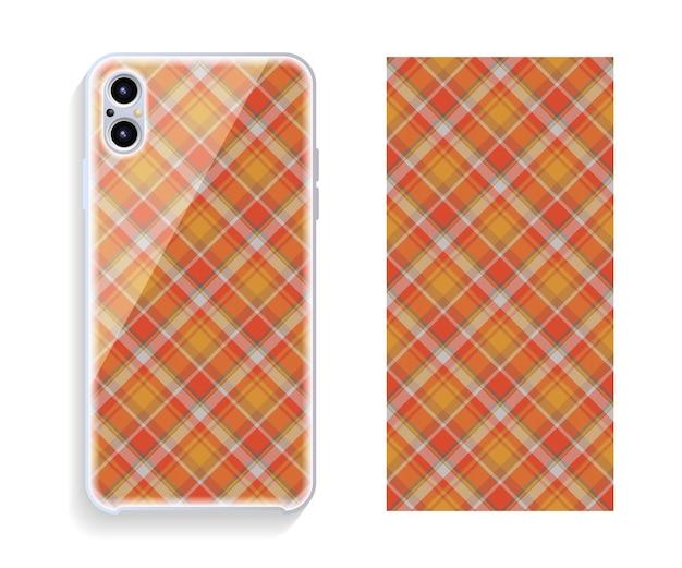 Modelo de design de capa de smartphone com padrão geométrico