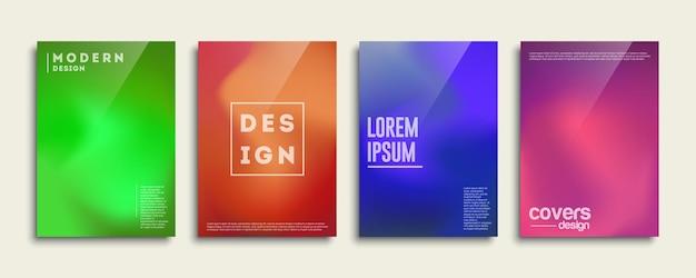 Modelo de design de capa definido com linhas abstratas. plano de fundo para apresentação de decoração, folheto, catálogo, cartaz, livro.