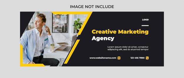 Modelo de design de capa do facebook para promoção de agência de marketing digital