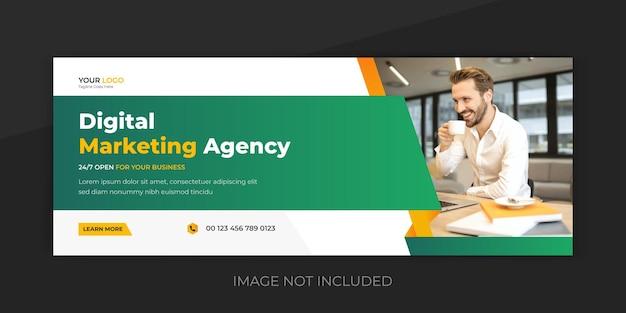 Modelo de design de capa do instagram para marketing digital e mídia social corporativa