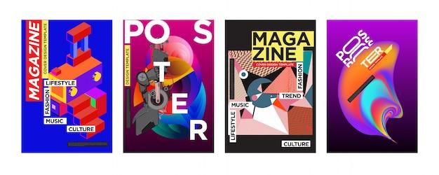 Modelo de design de capa e cartaz para revista