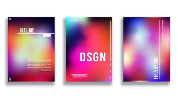 Modelo de design de capa - fundo colorido gradiente