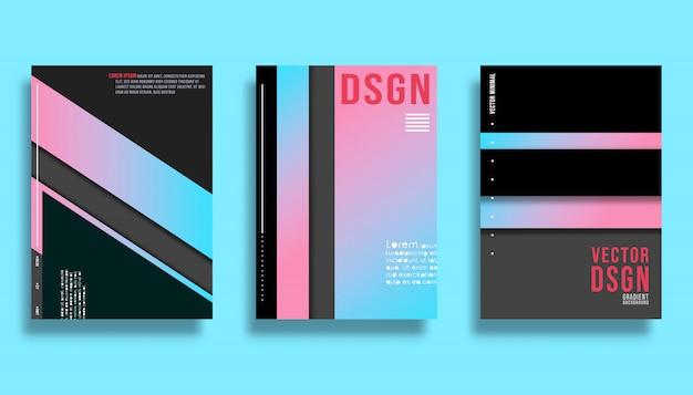 Modelo de design de capa - fundo de linhas gradiente