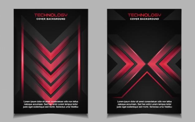 Modelo de design de capa futurista