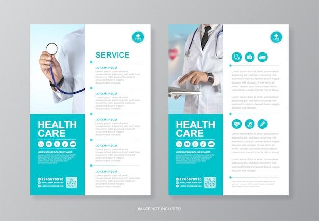 Modelo de design de capa médica e médica corporativa