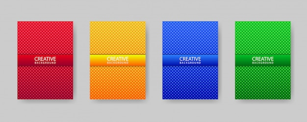 Modelo de design de capa mínima definida com textura abstrata e gradiente círculos