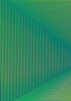 Modelo de design de capa mínima. layout de folheto moderno. gradientes de meio-tom vibrantes amarelos verdes em fundo escuro. delicioso design abstrato moderno da capa.