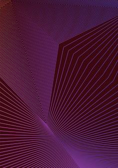 Modelo de design de capa mínima. layout de folheto moderno. gradientes de meio-tom vibrantes violetas em fundo escuro. resplandecente desenho de capa abstrata na moda.