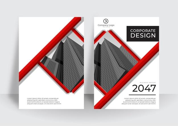 Modelo de design de capa moderna. relatório anual corporativo ou modelo de design de livro