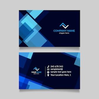 Modelo de design de cartão abstrato
