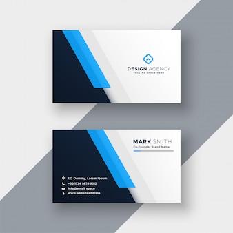 Modelo de design de cartão azul mínima