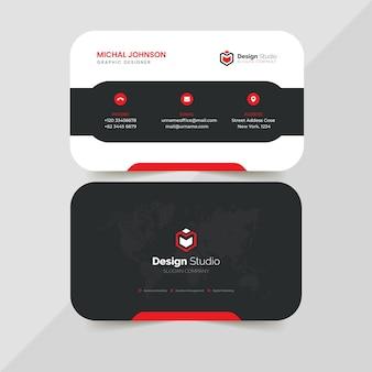 Modelo de design de cartão corporativo vetor premium