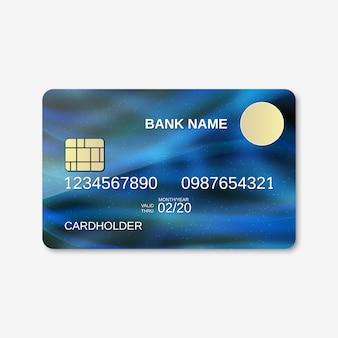 Modelo de design de cartão de banco.