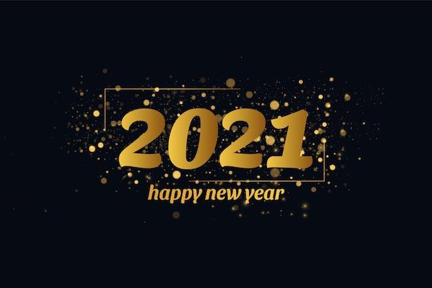 Modelo de design de cartão de férias de inverno feliz ano novo 2020.