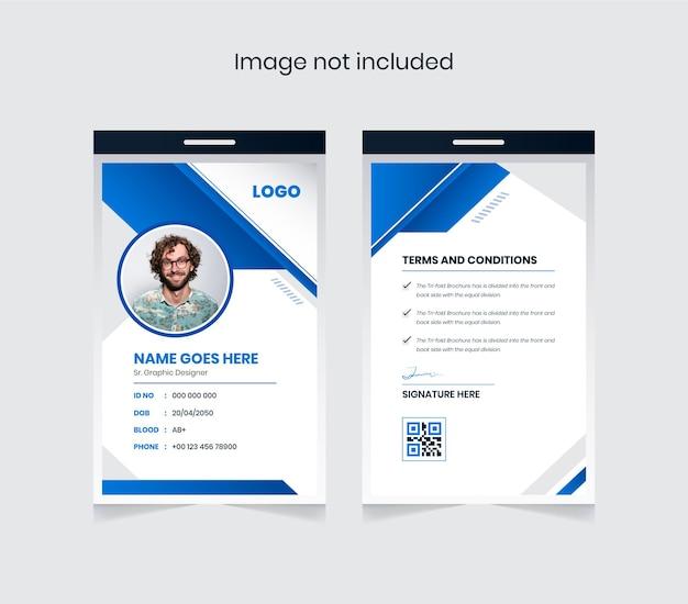 Modelo de design de cartão de identificação abstrato e colorido para uso corporativo e pessoal