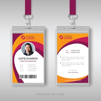 Modelo de design de cartão de identificação criativo