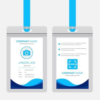 Modelo de design de cartão de identificação de escritório corporativo