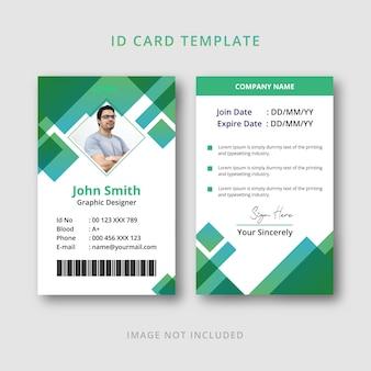 Modelo de design de cartão de identificação moderno