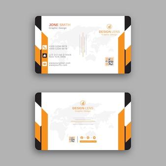 Modelo de design de cartão de negócios corporativo criativo