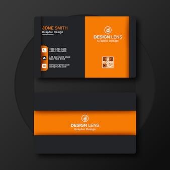 Modelo de design de cartão de negócios de luxo corporativo criativo