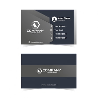 Modelo de design de cartão de negócios modernos