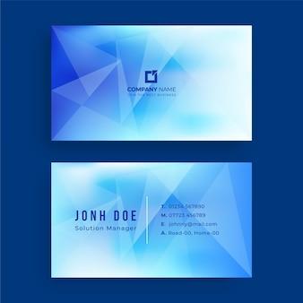 Modelo de design de cartão de visita azul