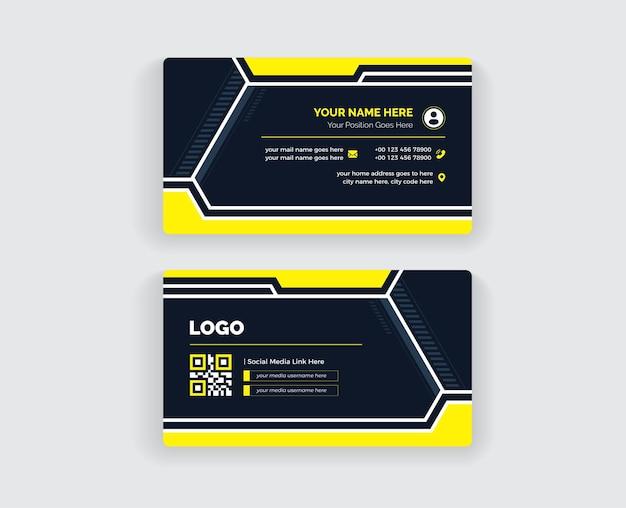 Modelo de design de cartão de visita colorido
