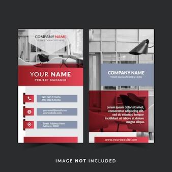 Modelo de design de cartão de visita com foto