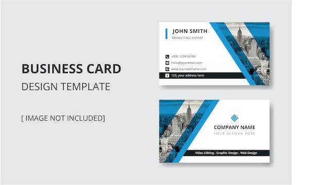 Modelo de design de cartão de visita coporate moderno em formato vetorial