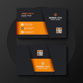 Modelo de design de cartão de visita corporativo de luxo
