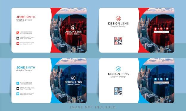 Modelo de design de cartão de visita corporativo digital