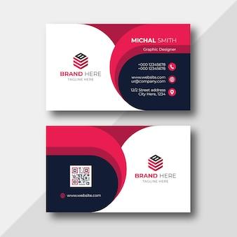 Modelo de design de cartão de visita corporativo