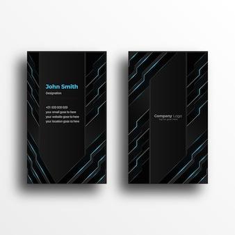 Modelo de design de cartão de visita criativo com design futurista