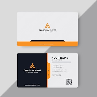 Modelo de design de cartão de visita criativo moderno e elegante profissional