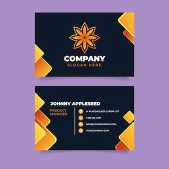 Modelo de design de cartão de visita de branding da empresa
