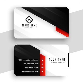Modelo de design de cartão de visita elegante com tema vermelho