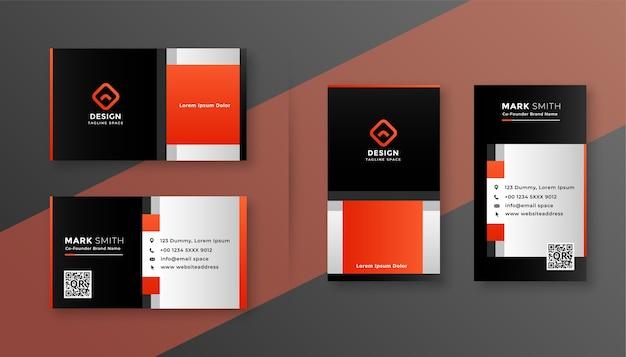 Modelo de design de cartão de visita empresarial de estilo corporativo