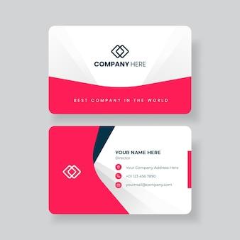Modelo de design de cartão de visita minimalista